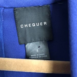 Chequer Dresses - EUC Chequer Blue Violet Structured Dress